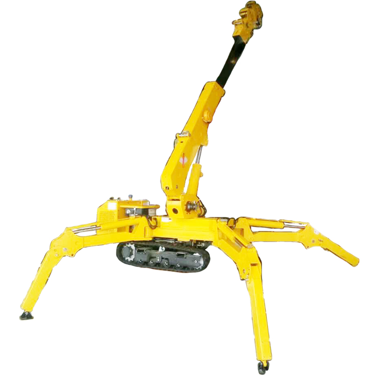 3 ton diesel engine spider mini crawler crane