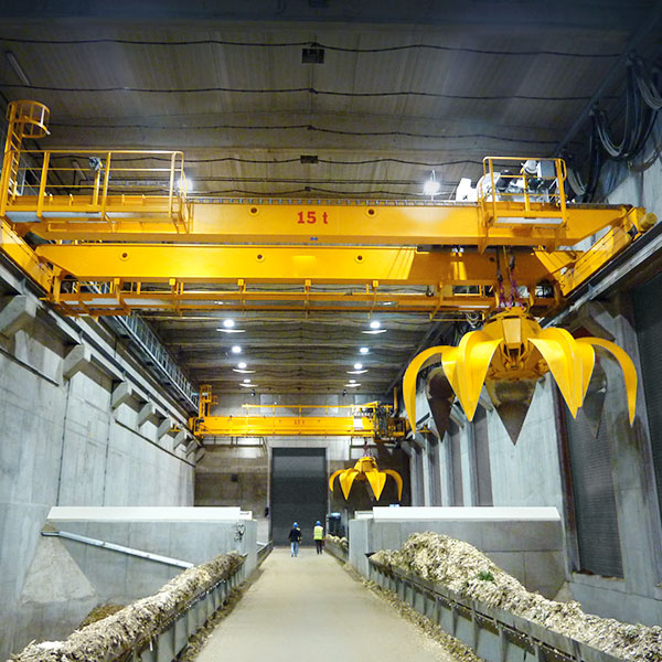 Grab bucket double girder overhead crane