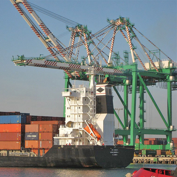 Rail Mounted ship to shore container&cargo loading&unloading quayside crane