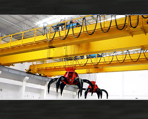 5-20t electric grabbing bucket bridge overhead crane